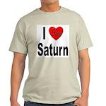 I Love Saturn (Front) Light T-Shirt