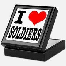 I Heart (Love) Soldiers Keepsake Box