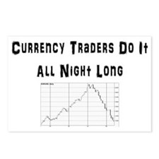 Currency traders do it al Postcards (Package of 8)