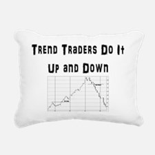 Trend traders do it up a Rectangular Canvas Pillow