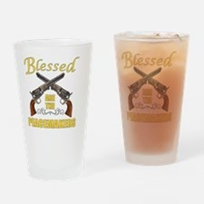 Blessed Are The Peacekeepers Drinking Glass
