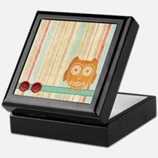 Orange Owls Blanket Keepsake Box