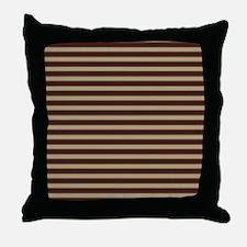 stripes horizontal Throw Pillow