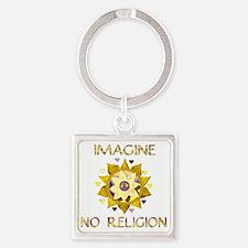 Imagine No Religion Square Keychain