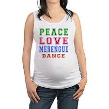 Peace Love Merengue Dance Maternity Tank Top