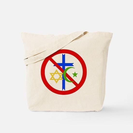 No Religion Tote Bag
