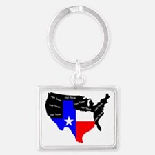 Not Texas Landscape Keychain
