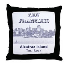 SanFrancisco_10x10_v4_AlcatrazIsland Throw Pillow