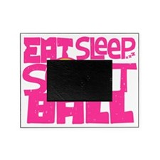 Eat, Sleep, Softball - Pink Picture Frame