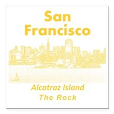 "SanFrancisco_10x10_v1_Al Square Car Magnet 3"" x 3"""