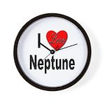 I Love Neptune Wall Clock