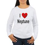 I Love Neptune (Front) Women's Long Sleeve T-Shirt