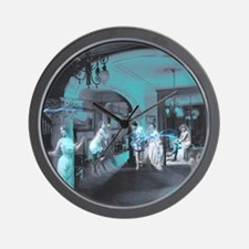 Blue Brothel Collage Wall Clock