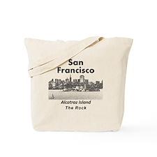 SanFrancisco_10x10_v1_AlcatrazIsland_Blac Tote Bag