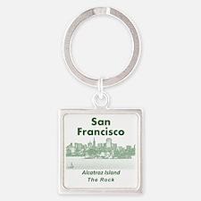 SanFrancisco_10x10_v1_AlcatrazIsla Square Keychain