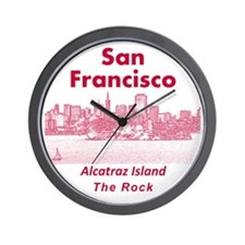 SanFrancisco_10x10_v1_AlcatrazIsland_Re Wall Clock