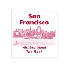 "SanFrancisco_10x10_v1_Alcat Square Sticker 3"" x 3"""