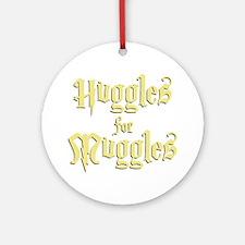 Hufflepuff Huggles Round Ornament