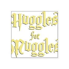 "Hufflepuff Huggles Square Sticker 3"" x 3"""