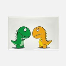 Cute Dinosaurs Rectangle Magnet