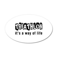 Triathlon it is a way of life Wall Decal