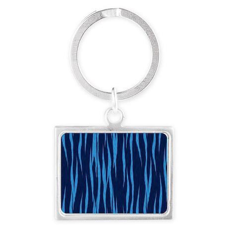 Blue Big Cat Fur Landscape Keychain