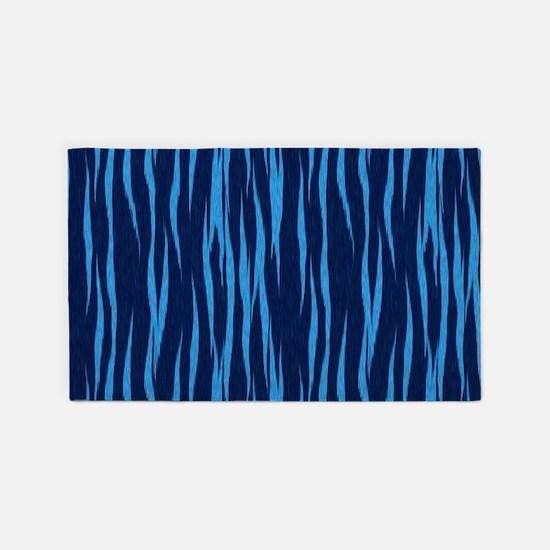 Blue Big Cat Fur 3'x5' Area Rug