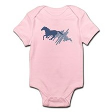 Wild horse gallop, art brush. Infant Bodysuit