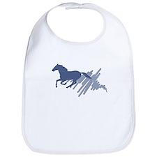 Wild horse gallop, art brush. Bib