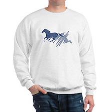 Wild horse gallop, art brush. Sweatshirt