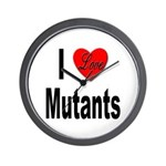 I Love Mutants Wall Clock