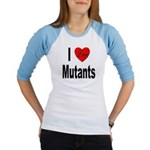 I Love Mutants (Front) Jr. Raglan