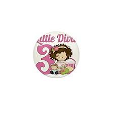Little Diva is 3 Mini Button