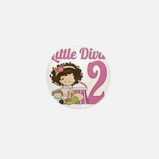 Little Diva is 2 Mini Button