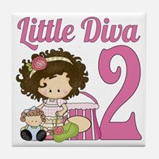 Little Diva is 2 Tile Coaster