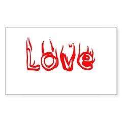 Love Rectangle Decal