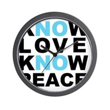 Know Love... Wall Clock