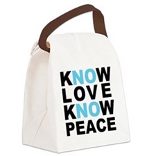 Know Love... Canvas Lunch Bag