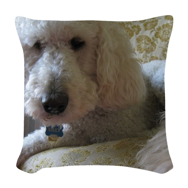 Throw Pillow Doodle : Goldendoodle Woven Throw Pillow by ADMIN_CP112537350