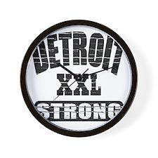 Detroit Strong Wall Clock