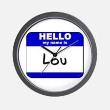 hello my name is lou  Wall Clock