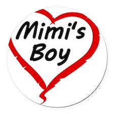 MIMIS BOY Round Car Magnet