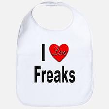 I Love Freaks Bib