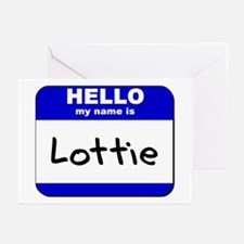 hello my name is lottie  Greeting Cards (Package o