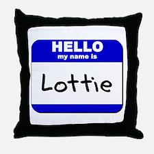 hello my name is lottie  Throw Pillow