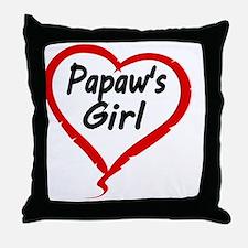 PAPAWS  GIRL Throw Pillow