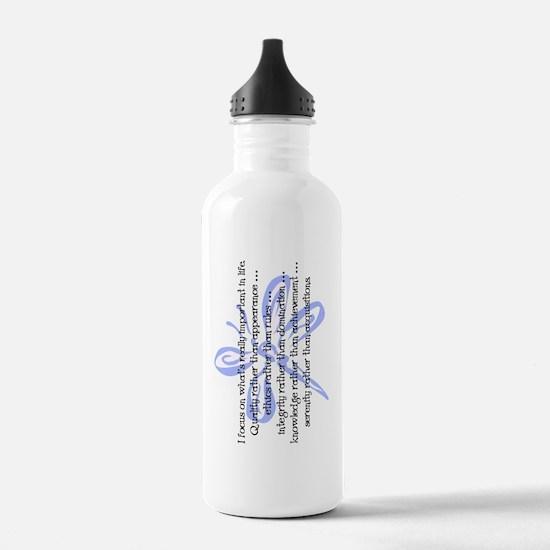 WhatsImportantInLife-1 Water Bottle