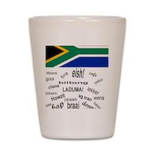 South African Slang Shot Glass