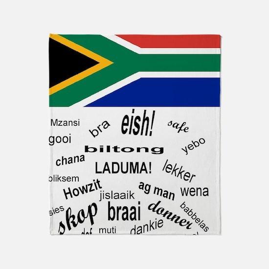 South African Slang Throw Blanket