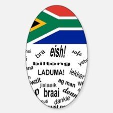 South African Slang Sticker (Oval)